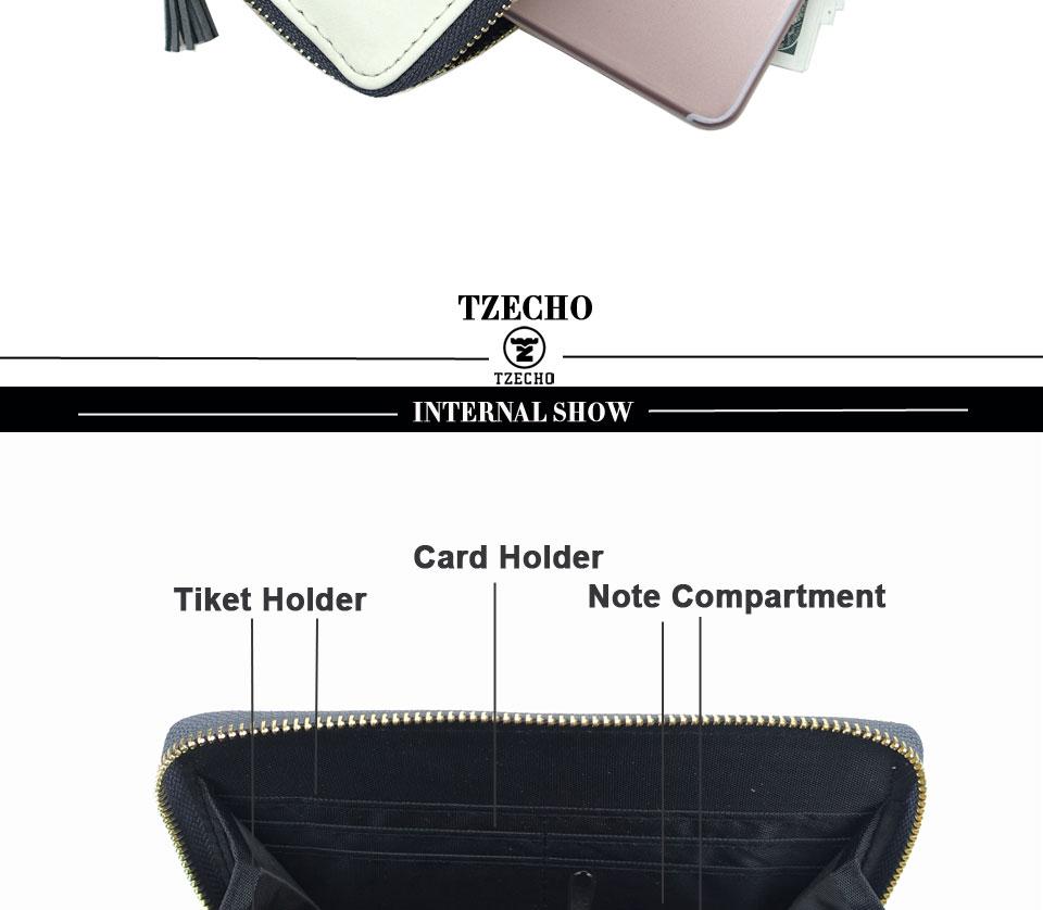 HTB13JKXRFXXXXbNaXXXq6xXFXXXF - TZECHO Women Wallets PU Print Dream Catcher Carton Long Ladies Purses Coin Pocket Card Holder Clutch Zipper Wallets for Women