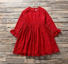 Baby Girl Autumn Dress Long Sleeve Christmas Kids Dress Fashion Elegant Princess Party Dresses Red Childrens Clothes