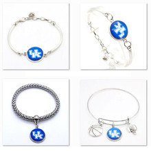 2017 Promotion Jewelry Sport Bracelet Kentucky Wildcats NCAA Charms Bracelet Bangle Women Men Fashion Accessories SPT85(China)