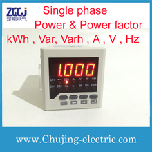 Single phase power meter and power factor meter high quality high accuracy power meter multifunction meter