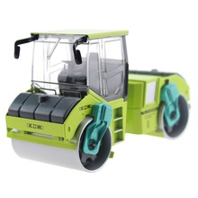 Doubl drum rolling Road Truck model scale 1:50 ABS Alloy Diecast engineer machine model double drum collections toys