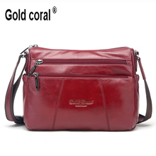 New fashion women messenger bag genuine leather shoulder crossbody bag brand handbag women clutch bag purse women wallets(China)