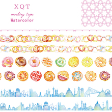 City Donuts Washi Paper Tape Office Adhesive Scrapbooking Tools Kawaii For Photo Album Cute Decorative Christmas Craft Gift(China)