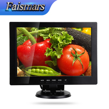 12.1 inch IPS Panel Type Plastic computer monitor 1280*800 Resolution, 12 inch Widescreen IPS monitor with VGA DVI(China)