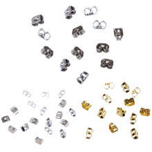 LNRRABC Hot Sale 3*5mm 300pcs/lot High Quality Gold/Silver/Nickel Color Butterfly Earring Back for Earrings Caps Free Shippng(China)