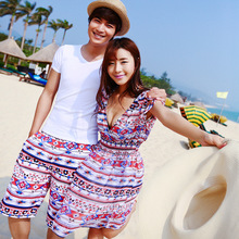 Lovers gather steel Toby Gini beach dress beach pants swimsuit(China)