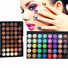 Popfeel 40 Color Matte Eye Shadow Palette Make Up Palette EyeShadow Luminous Natural Glitter Waterproof Make Easy to Carry