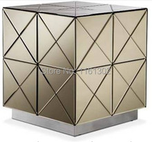 MR-401030 modern beveled mirrored end table(China)