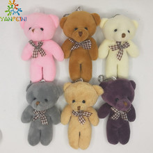 11cm High Quality Super Kawaii Cute Lovely Teddy Bear Plush Toys & Stuffed Dolls Wedding Decoration Baby Toy Baby Gift
