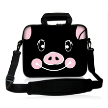 "12 Inch Cute Pig Shoulder Computer Bags Tablet Netbook Soft Neoprene Women Messenger Bags For Lenovo Apple Chuwi 11.6"" 12.1"" PC"