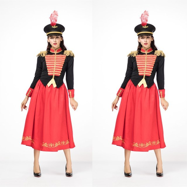 The Nutcracker and The Four Realms Clara Cosplay Costume fashion ladies princess dress Clara officer uniforms Jackets Cosplay