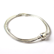 45cm Long Silver plated Bracelet for DIY Jewelry Charms Accessories Modern Designer Chain Bracelet in 2017(China)