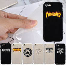 NEW Hit Thrasher Logo Fashion Phone Cover Case for iPhone 7 Case, Coque for iphone 6 6s Plus 7 Plus 5 5s SE Case Back Cover Capa