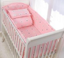 Pink color for girl bedding set cute round sheet cover kids bedding(China)