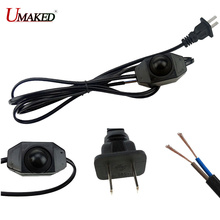 Dimming power wire with switches, black/ white color extend wire cable with switching