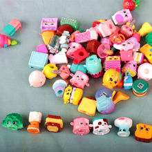100pcs/1lot Shopkin Food Cartoon Fruitman 1-3cm Action Figures Kid Brinquedo Toys Birthday Gift Free Shipping