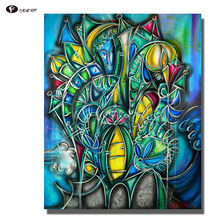 CHENFART Canvas Painting Modern Abstract Guitars Decorative Pictures Posters and Prints Wall Pictures for Living Room Unframed(China)