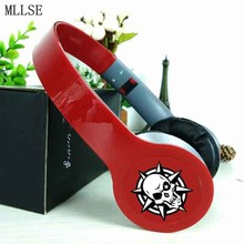 MLLSE Anime Cross Fire CF Skull Headband Headphone Earphones 3.5mm Stereo Bass Music Gaming Headset for Iphone Samsung Xiaomi PC