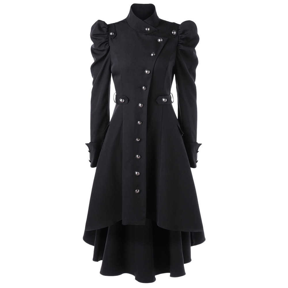 Fashion coat women 2019 Female Vintage Steampunk Long Coat Gothic Overcoat Ladies Retro Jacket Luxury Brand veste femme Clothing