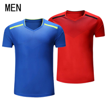 Free shipping badminton wear, short sleeved men's T-shirts, sportswear, summer fast, breathable tennis shirts(China)