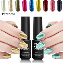 Paraness Colorful Shining Glitter Platinum Nail Gel Polish Soak Off Cheap Gel Vernis Semi Permanent Platinum Gel Varnish