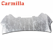 Carmilla Car Machine Soundproof Cotton Engine Hood Heat Sound Insulation Cotton Sticker For Ford Ecosport 2013 2014 2015 2016(China)