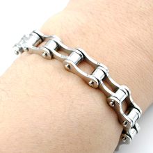 PUNK Biker 316L STAINLESS Steel Mens Bracelet Fashion Jewelry Bike Bicycle Chain Bracelet Jewelry Free Shipping KB017