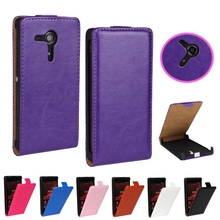 For Sony Xperia M35 Retro Stylish Style Crazy Horse Flip Leather Case For Sony Xperia SP M35 M35h C5302 C5303 Mobile Phone Cover