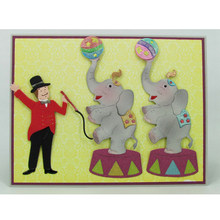 Cute Circus Elephant Metal Cutting Dies Stencils For DIY Scrapbooking Decorative Embossing Suit Paper Cards Die Template