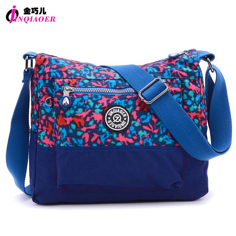JINQIAOER Fashion Camouflage Nylon Messenger Bag High Quality Waterproof  Women Shoulder Bag Bolsa Ladies Travel Bag Satchels<br><br>Aliexpress