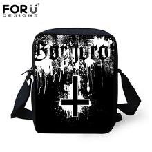 FORUDESIGNS Men Messenger Bags Metallica Skull Print Heavy Metal Rock Hip Hop Casual Crossbody Bags For Men Kids Boys Shoulder