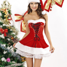 Adult Deluxe Christmas Mrs Miss Santa Ladies Fancy Dress Costume Xmas Outfit