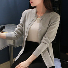 autumn women fashion buttons elegant sweater cardigans lady girl casual sweater cardigans