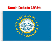 New fashion 90*150 cm South Dakota flag United State American Banner Office/Activity/parade/Festival/Home Decoration(China)