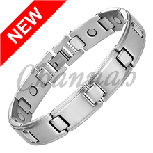 Channah 2017 Bangle Silver Men Magnetic Stainless Steel Nice Bracelet Healing Bio Magnets Energy Jewelry Wristband Charm