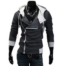 Mens Fashion Hoodies Sweatshirt Zipper Cardigan Tracksuit Casual Hooded Jacket moleton Assassins Creed Fleece Slim Coat