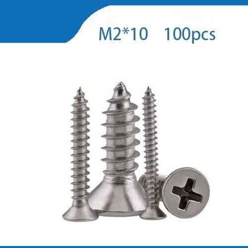 100 pcs M2x10mm Cylindre En Laiton Entretoise Spacer Écrou Vis Entretoise Pilier