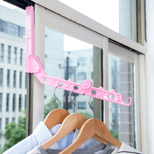 Best Door Hanging Foldable Clothes Hanger Magic 5 Hole Hanger Rack With Hook Space Save Clothing Tie Organizer Creative Drying