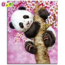 DPF Diamond Embroidery Animals Panda Diamond Painting Cross Stitch Picture Of Rhinestones Full Square Diamond Mosaic Kits