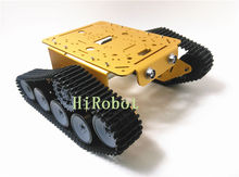 T300P Tank car chassis,Aluminum alloy Golden/Silver with robot arm interface,for DIY, Course Project, Robot demo