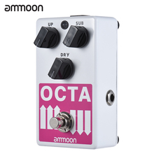 ammoon OCTA Electric Guitar Precise Polyphonic Octave Generator Effect Pedal Supports SUB/ UP Octave & Dry Signal(China)