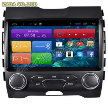 1024*600 9'' Quad Core Android 4.4 Car DVD for Ford Edge With Bluetooth 16GB Nand Flash 3G Wifi Mirror Link Free Maps GPS