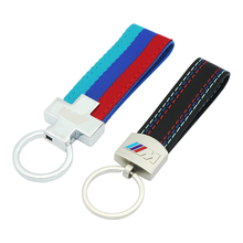 Buy Car styling Metal Nylon Leather Car Key Ring Keychain Key Chain Keyring BMW M Sport M3 M5 X1 X3 E46 E39 E60 F30 E90 F10 F30 for $2.08 in AliExpress store