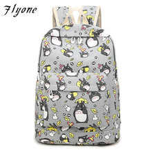Flyone Women Totoro Backpack girls backpacks 3D printing travel softback women mochila School space backpack notebook FY090(China)