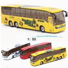 Hot Sale 1:50 Diecast Cars Bus Metal Model Car Dinky Toys For Children Brinquedos Alloy Bus Toy Vs Hotwheels Tayo Bus Kids Toys(China)
