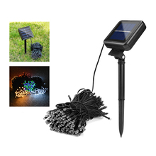 50/100/200Leds Led Solar Lamp Fairy String Light Outdoor Decorative Holiday Lights For Garden,Christmas Tree,Lawn,Landscape(China)