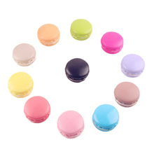 1PC Random Color Kawaii Soft Dessert Macaron  Cute Toys Pretend Kitchen Toys Artificial Macaroons Toys