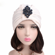 EMS OR DHL 120PCS 2017 New Corn Kernels Headband India Cap Chemotherapy Drum Bead Diamond Headdress TJM-242C Hair Accessories