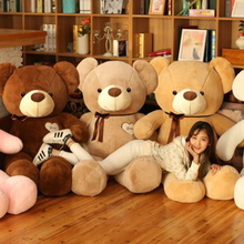 Cute 80cm Large Teddy Bear Plush Doll Stuffed Soft Toy Cute Huge White Bear Wear Bowknot Kids Toys Birthday Gift for Girl Child