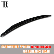 A6 C7 C Styling Carbon Fiber Rear Roof Trunk Wing Spoiler for Audi A6 C7 Sedan 4 Door 2013 2014 2015 2016 Caractere Style